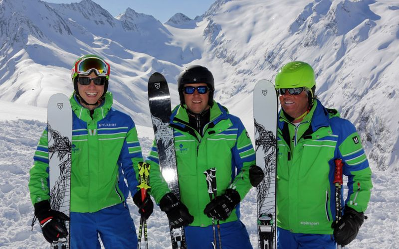ski guides of the skischool alpinsport obergurgl